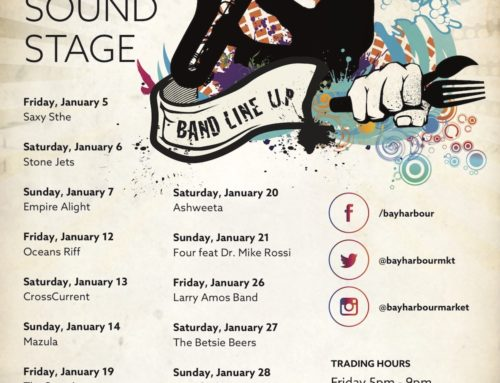 January 2018 Gig Guide at the Bay Harbour Market