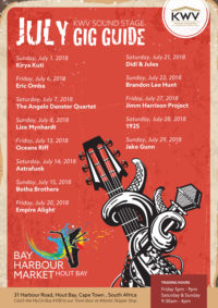 July Gig Guide - Hout Bay Harbour Market