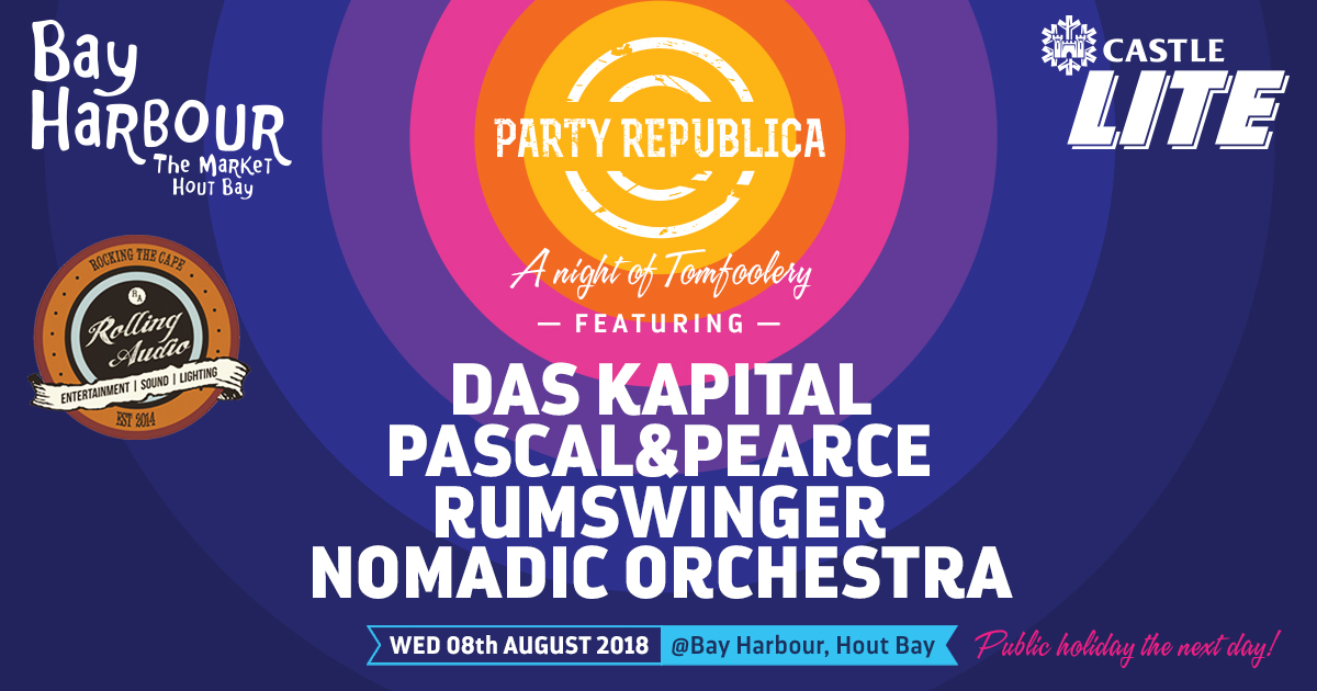party republica at the bay harbour market in hout bay 8 august