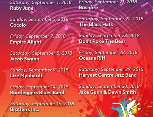 The September 2018 KWV Soundstage Gig Guide at the Bay Harbour Market