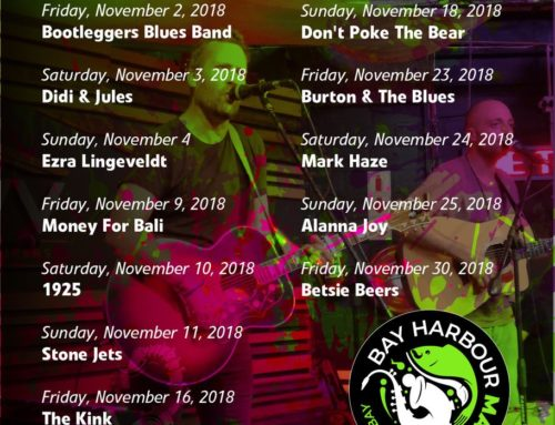 The Bay Harbour Market November 2018 Gig Guide