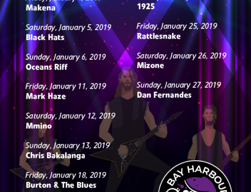 January 2019 Gig Guide at The Bay Harbour Market