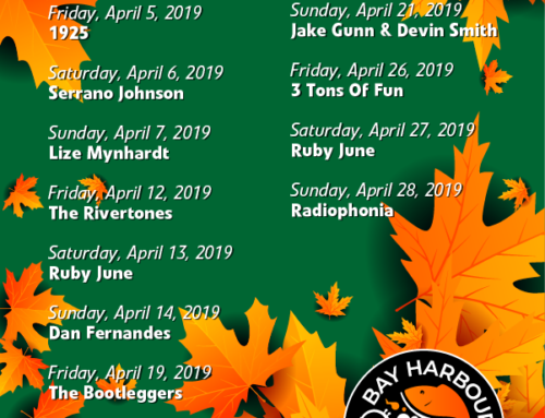 April 2019 Gig Guide at The Bay Harbour Market
