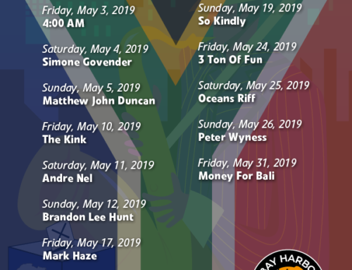 May 2019 Gig Guide At The Bay Harbour Market