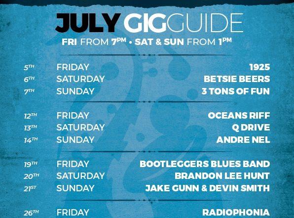 2019 July Gig Guide