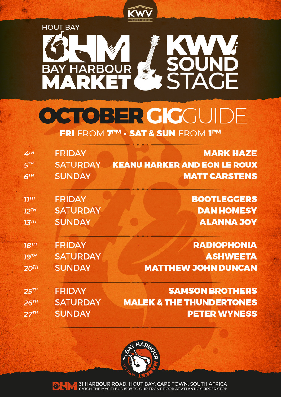 October Line Up: Gig guide