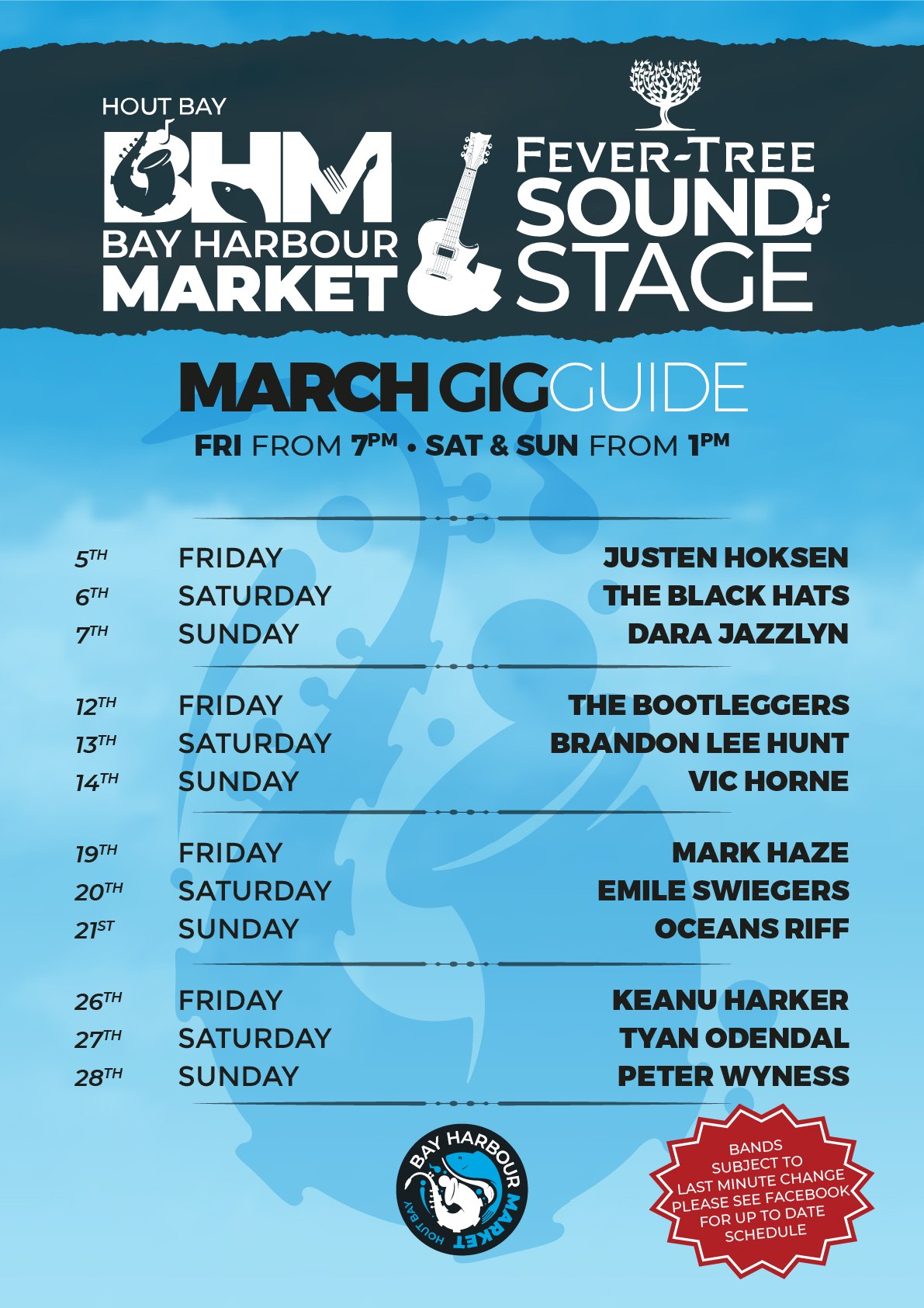 March 2021 Gig Guide